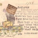 Bates Wight Co. Salesman Appointment Card, 1908 Vintage Postcard - 3405