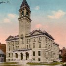 City Hall at Montpelier Vermont VT, 1923 Vintage Postcard - 3414