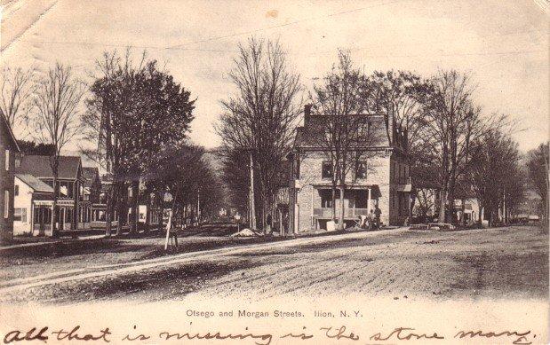 Otsego and Morgan Streets at Ilion New York NY, 1906 Vintage Postcard - 3415