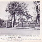 Memorial Fence and Gateway to Ancient Burying Ground at Hartford Connecticut CT, Postcard - 3418