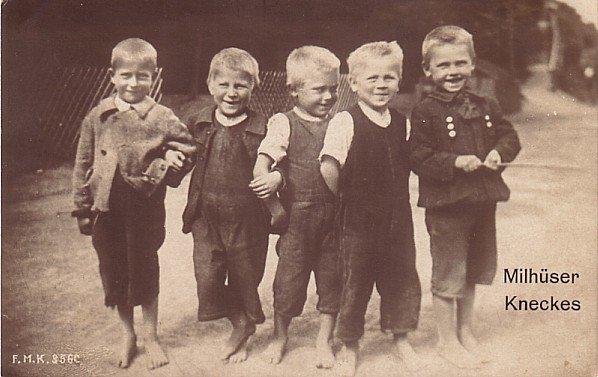 Barefoot Boys, Real Photo Post Card RPPC - 3420