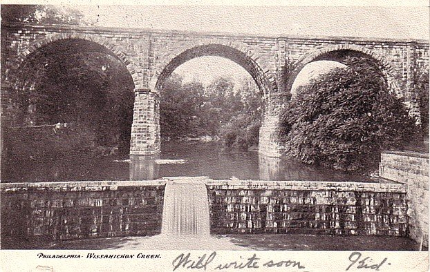 Wissahickon Creek at Philadelphia Pennsylvania PA, 1907 Vintage Postcard - 3422