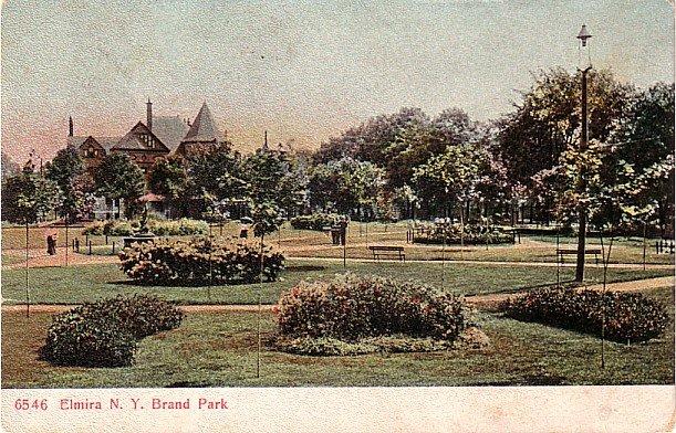 Brand Park at Elmira New York NY, PCK Vintage Postcard - 3427