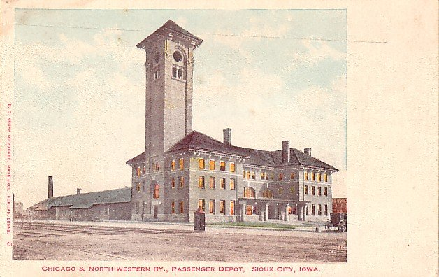 Chicago north western passenger depot at sioux city iowa for Craft stores in sioux city iowa