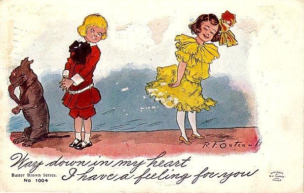 R.F. Outcault Buster Brown Series, 1911 Vintage Postcard - 3437