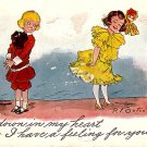 R.F. Outcault Buster Brown Series, 1911 Vintage Postcard - 3437