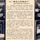 The Mailomat Coin Operated Letter Box, Vintage Postcard - 3450