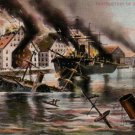 Destruction of the Merrimac 1907 Vintage Postcard - 3452