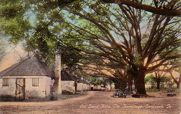 Old Slave Huts at The Hermitage in Savannah Georgia GA Vintage Postcard - 3455