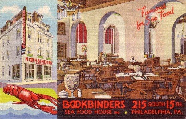 Bookbinders Sea Food House in Philadelphia Pennsylvania PA, Linen Postcard - 3458