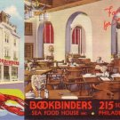 Bookbinders Sea Food House in Philadelphia Pennsylvania PA, Linen Postcard - 3458