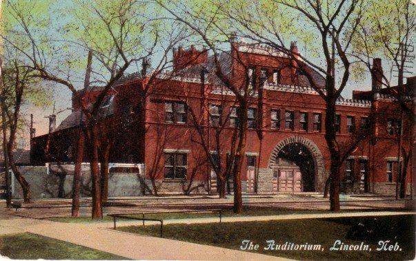 The Auditorium in Lincoln Nebraska NE, 1912 Vintage Postcard - 3464