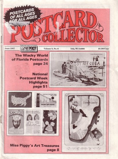 June 1987 Postcard Collector Magazine Krause Publication