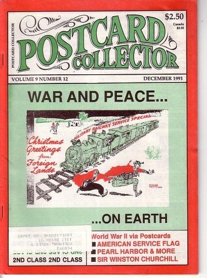 December 1991 Postcard Collector Magazine Joe Jones Publishing