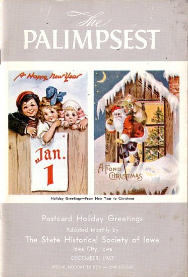 Postcard Holiday Greetings, The Palimpsest Publication December 1967