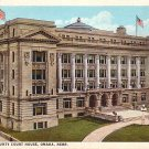 Douglas County Court House in Omaha Nebraska NE, Curt Teich Vintage Postcard - 3507