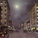 Broadway at Night in Los Angeles California CA, 1909 Vintage Postcard - 3520