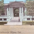 Public Library in Gilroy California CA, Vintage Postcard - 3536
