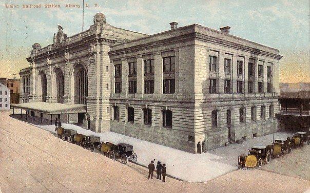 Union Railroad Station at Albany New York NY, Vintage Postcard - 3605