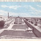 Bird's Eye View of Clinton Prison from Warden's Residence at Dannemora New York NY, Postcard - 3633