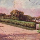 Country Road Landscape Scene 1907 Vintage Postcard - 3743