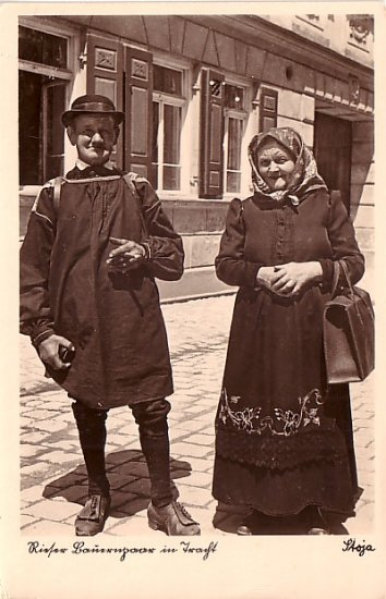 Ethnic Couple, Real Photo Post Card by Stoja, RPPC - 3770