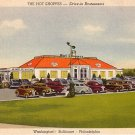The Hot Shoppes Drive In Restaurants, 1946 Linen Postcard - 3829