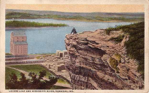 Lovers Leap and Mississippi River at Hannibal Missouri MO ...