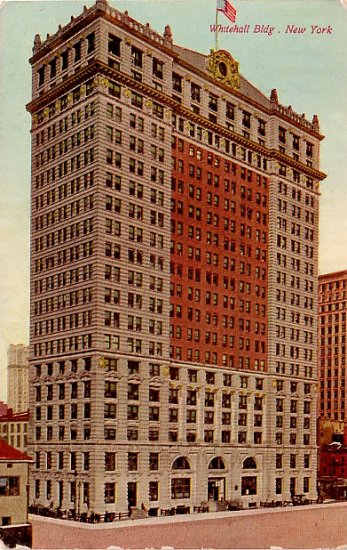 Whitehall Building in New York City NY, Vintage Postcard - 3866