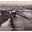 U.S. Government Locks in Seattle Washington WA, Chrome Postcard - 3867