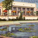 Chicago Zoological Park Restaurant at Brookfield Illinois IL, 1941 Curt Teich Linen Postcard - 3868