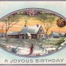 A Joyous Birthday Vintage Postcard - 4001