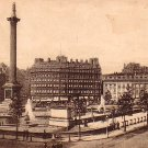 Trafalgar Square in London England United Kingdom, Vintage Postcard - 4019
