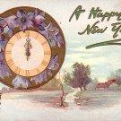 Raphael Tuck & Sons New Year Vintage Postcard with Good Luck Pig - 4022
