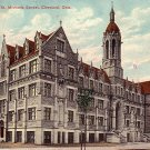 St. Michaels School in Cleveland Ohio OH, 1908 Vintage Postcard - 3907