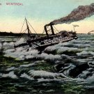Ship Battling Lachine Rapids in Montreal Canada, Vintage Postcard - 3908