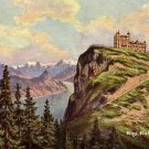 Rigi Kulm Hotel in Switzerland, Vintage Postcard - 3928