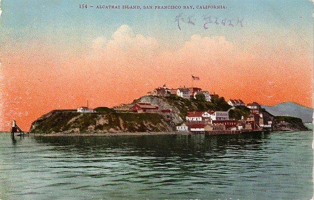 Alcatraz Island at San Francisco California CA, Edward H Mitchell 1909 Vintage Postcard - M0002