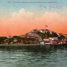 Alcatraz Island at San Francisco California CA, Edward H Mitchell 1909 Vintage Postcard - M0002
