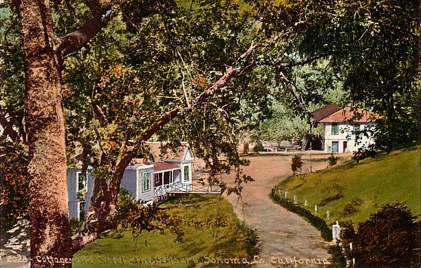 The Geysers Cottages and Hotel Sonoma County CA, Edward H Mitchell 1909 Vintage Postcard - M0039