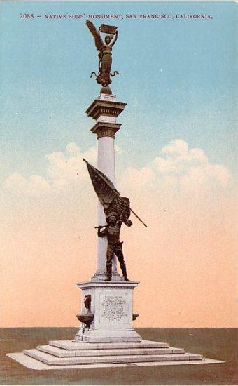 Native Sons' Monument, San Francisco CA, Edward H Mitchell 1909 Vintage Postcard - M0044