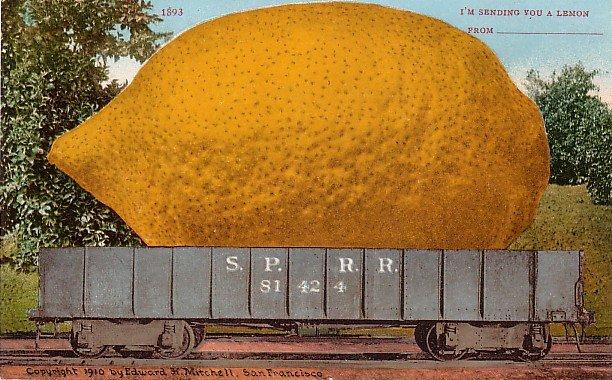 I'm Sending You a Lemon, Edward H Mitchell 1910 Vintage Postcard - M0066