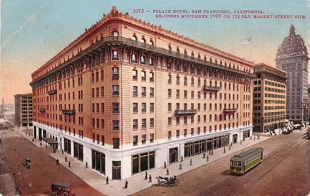 Palace Hotel after Reopening  in San Francisco California CA, Edward H Mitchell Postcard - M0070