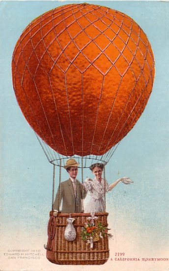 A California Honeymoon Exaggerated Edward H Mitchell 1910 Vintage Postcard - M0083