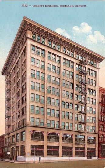 Corbett Building in Portland Oregon OR, Edward H Mitchell 1910 Vintage Postcard - M0085