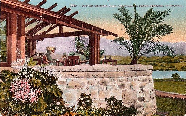 Potter Country Club in Santa Barbara California CA, Edward H Mitchell Postcard - M0098