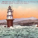 Mile Rock Light House at San Francisco California CA, Edward H Mitchell Vintage Postcard - M0108