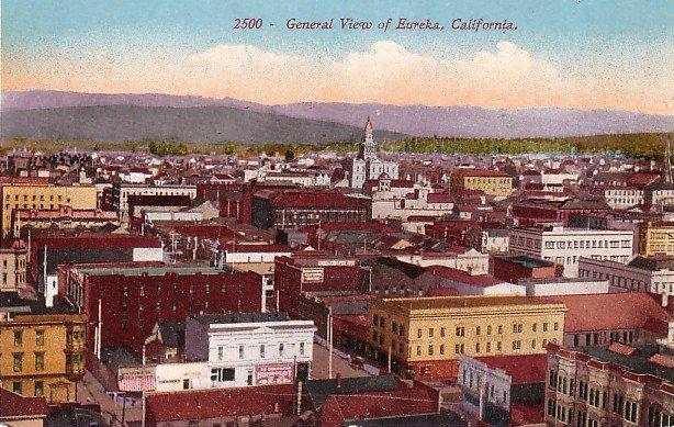 View of Eureka California CA,  Edward H Mitchell 1910 Vintage Postcard - M0109