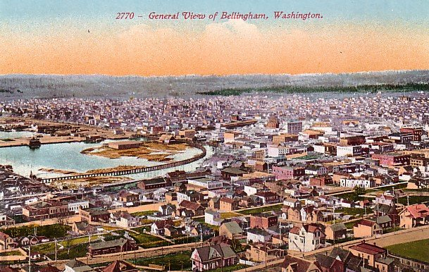 View of Bellingham Washington WA, Edward H Mitchell 1910 Vintage Postcard - M0115