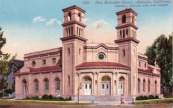 First Methodist Church in Alameda California CA Edward H Mitchell 1911 Vintage Postcard - M0123